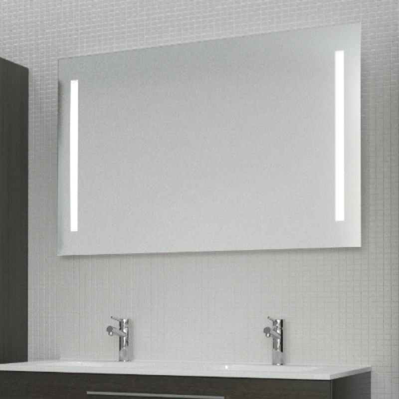 Beautiful miroir salle de bain lumiere integree for Miroir 60 x 120